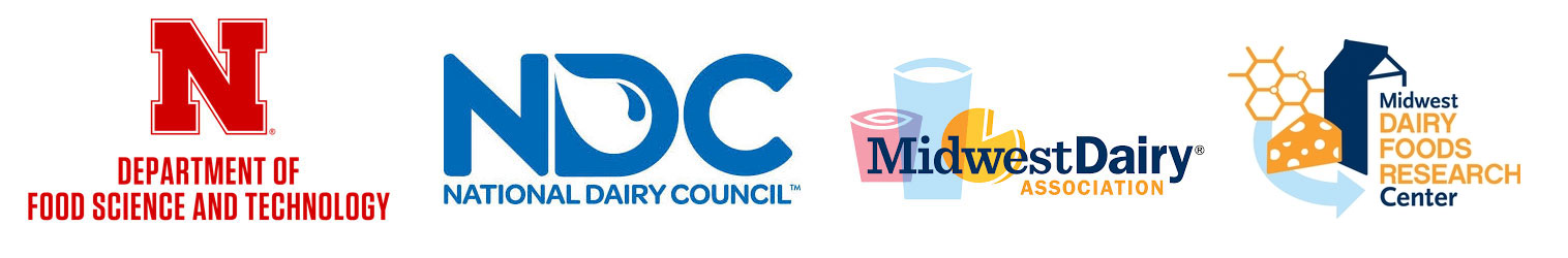 Food Science, Dairy Council, and Midwest Dairy Association Logos